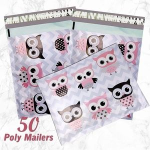 Other - 50 Owl Poly Mailers 10x13 Shipping bag